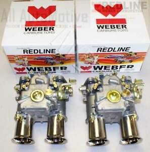 Weber 45 Dcoe Pair Two Weber 45 Dcoe Genuine European