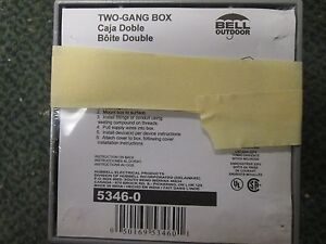 Bell 2 Gang Box 5346 0 7 3 4 Outlets lot Of 3 New Surplus