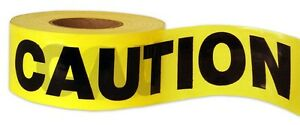 Case Of 12 Brand New 3 X 1000 Ft Yellow Caution Tape 1 5mil usa Seller
