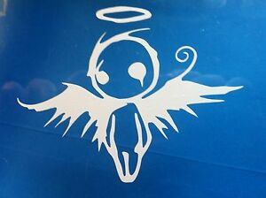 Fallen Angel Gothic Vinyl Decal Sticker Fatlace Jdm Many Colors Lot Of 2 Decals