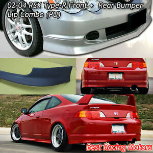 Tr Style Front Tr Style Rear Bumper Lip Urethane Fits 02 04 Acura Rsx 2dr