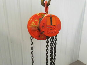 Cm Cyclone 1 Ton Manual Chain Fall Hoist 8 Lift W load Limiter 2000 Lb Capacity