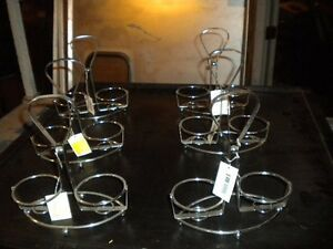 Lot Of 6 Chrome Table top Sauce Caddie Great For Indian Restaurant Must Sell