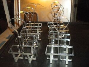 Lot 8 Chrome Table top Sauce Caddie Great For Any Bar Restaurant Must Sell