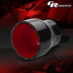 2 To 2 75 Straight Transition Reducer 3 ply Black red Silicone Hose Coupler