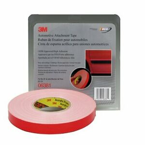 3m 06381 Double Sided Automotive 7 8 Inch X 60 Foot White Tape