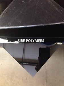 1 Black And 1 White Acrylic Plexiglass 1 8 Thick 24 X 48 Plastic Sheet