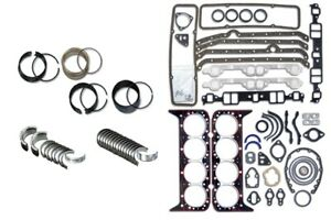 1986 1995 Sbc Sb Chevy 350 5 7l Truck Engine Rebuild Kit Gaskets Rings Bearings