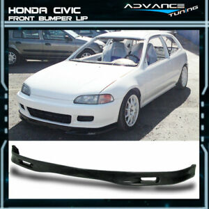 For 92 95 Honda Civic 2 3dr Jdm Spoon Front Bumper Lip Spoiler Bodykit Urethane