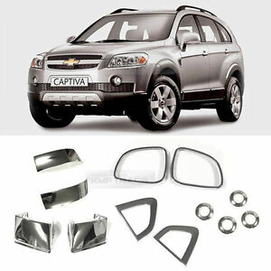 Chrome Side Mirror Fender Pdc Hole Molding Cover 12pcs For Chevy 2006 11 Captiva