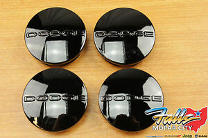 05 2018 Dodge Challenger Charger Magnum Journey Black Wheel Center Caps Set Oem