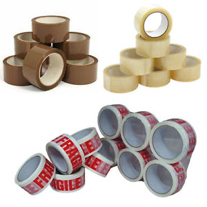 Premium branded Packaging Tapes Buff Clear Fragile