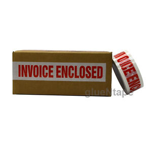 Invoice Enclosed Preprinted Sealing Packing Tape 2 Inch X 110 Yards 36 Rolls