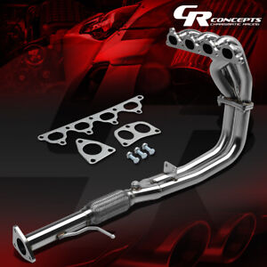For 90 93 Accord F22 Stainless Flex Exhaust Pipe Manifold Header Gasket Bolts