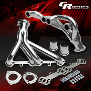 For Pontiac chevy Small Block 305 350 5 0 5 7 4 9 V8 Stainless Manifold Header