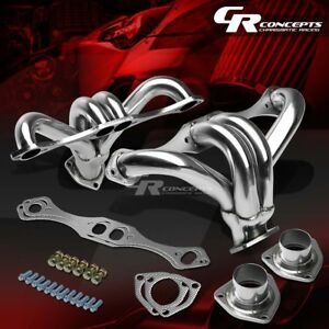 For Chevy Small Block 283 305 327 350 400 V8 Stainless Exhaust Manifold Header