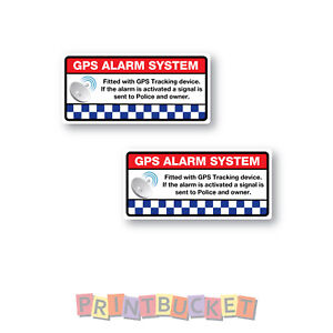 Gps Alarm System Tracking Sticker 70mm X 33mm Secure