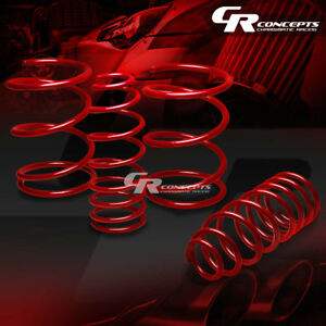 For 07 12 Nissan Sentra Coil Suspension Red Racing Lowering Springs 1 5 Drop