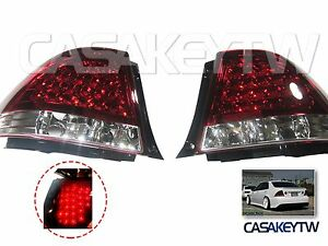 Led Red Clear Tail Lights Rear For Lexus Is200 Is300 98 05 Altezza
