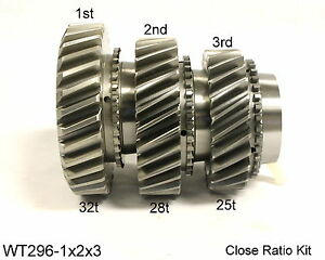 Ford Toploader 4 Speed Close Ratio 1st 2nd 3rd Gear Set Wt296 1x2x3