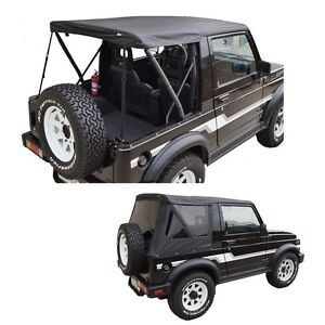 1986 1994 Suzuki Samurai Replacement Soft Top W Removable Tinted Windows Black