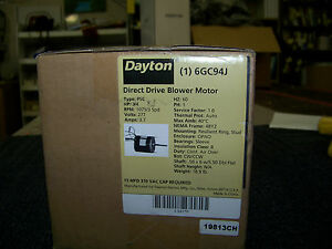 Dayton Direct Drive Blower Motor Type Psc 3 4 Hp 1075 Rpm 3 Speed 277 Volts