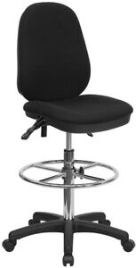 Ergonomic Multi functional Triple Paddle Drafting Stool With Adjustable Foot Rin