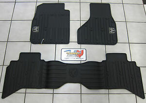 2009 2012 Dodge Ram Quad Cab All Weather Rubber Slush Floor Mats Mopar Oem