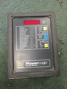 Square D Power Logic Circuit Monitor 3020 cm2350 With 3020 Iom 11 Used