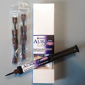Denali Dental Resin Cement Aura Cem White Bio adhesive Dual Cure