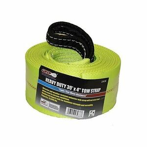 Heavy Duty Tow Strap Grip 30 Ft X 4 Feet Foot In Inch Tie Down Ratchet Towing