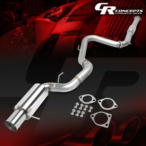 4 Muffler Tip Catback Racing Exhaust System For 00 05 Mitsubishi Eclipse 3g V6
