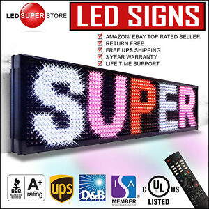 Led Super Store 3col rwp ir 15 x78 Programmable Scrolling Emc Display Msg Sign