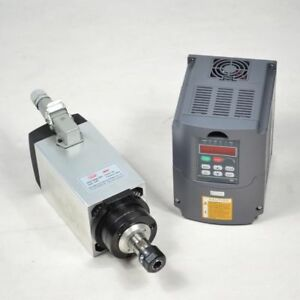4kw 4 Bearing Er20 Air cooled Motor Spindle And Matching Inverter Drive Vfd