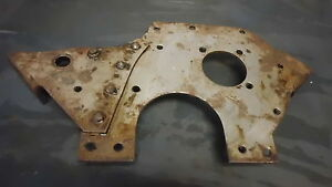 Engine Front Plate Chain Timed 134l 4cyl Nos Fits Willys Mb Ford Gpw G503