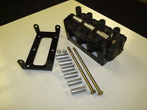 4 Cylinder Kit For Ls1 Coil Relocation Bracket Powder Coat Black 4 Coils Only