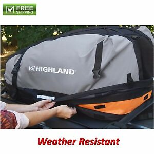 Car Rooftop Cargo bag Weather Proof Luggage Carrier Travel Storage Suv Van New
