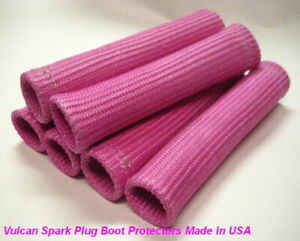 Pink Heat Protector Sleeve Spark Plug Wire Boot 6cyl Made In Usa