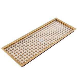 14 7 8 Flanged Mount Draft Beer Drip Tray Brass W drain Bar counter Mounted