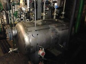 Tank Vessel 190 Gallon Horizontal 316l Stainless Steel W Heating Jacket