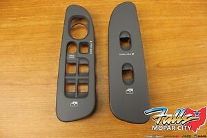 2006 2008 Dodge Ram Left And Right Side Window Switch Lock Bezel Set Mopar Oem