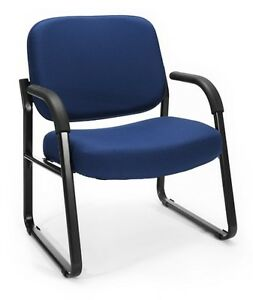 Big Tall 400lbs Capacity Medical Office Guest Chair Color Choice Fabric