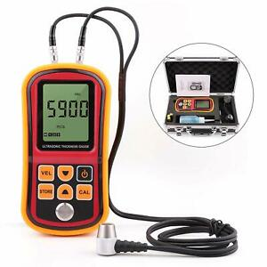 Digital Gm100 Ultrasonic Wall Steel Metal Thickness Gauge Meter Tester 1 2 220mm