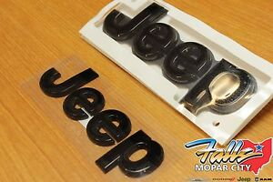 2014 2017 Jeep Grand Cherokee Black Replacement Nameplate Emblem Set Mopar Oem