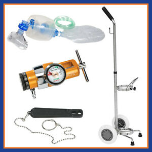 Belmed Emergency Manual Resuscitator Kit Portable System W Cart 5048