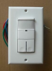 2 Pole Occupancy Vacancy Wall Motion Sensor 120v 277vac 2p Dual Switch White