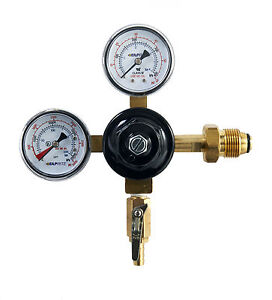 Taprite Nitrogen Dual Gauge Regulator Homebrew Craft Brew Kegerator Beer G mix