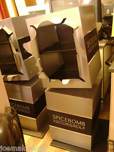 Retail Bomb Bombshell Explode Style Spicebomb Grey Shelving Floor Display