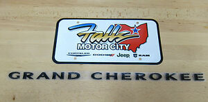 2012 2013 Jeep Grand Cherokee Gloss Black Door Emblem Nameplate Mopar Oem