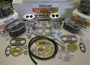Weber Carburetor Kit Vw Bug Type 1 Dual 40 Idf Tuned For Vw Air Cooled